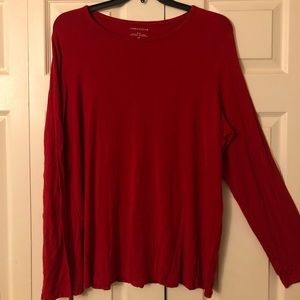 Lord & Taylor Red Long Sleeve Shirt